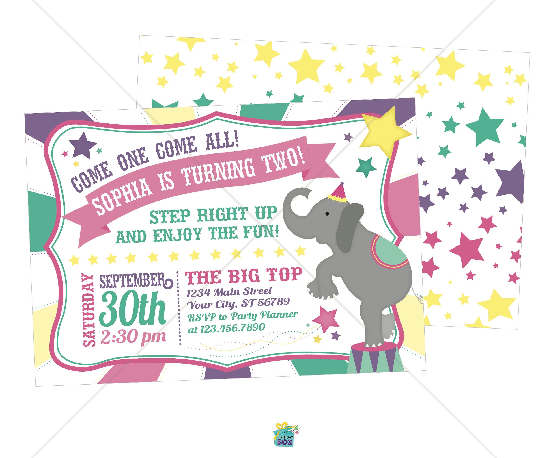Carnival Birthday Invitations - Digital Download ...