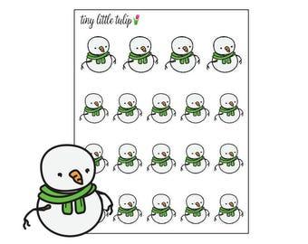 Planner Stickers Snowman