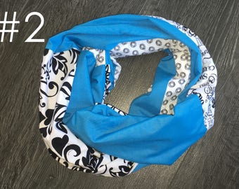 Hand made cotton infinity scarf