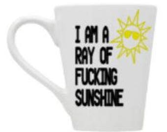 ray of sunshine/fucking/sun/glasses/coffee/cup/mug/nsfw/funny