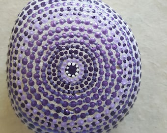 Purple Passion, Concentric Circle, Infinity, Painted Rock Art, Acrylic Painted Rock Art, Rock Art, A-Rock-A-Day, Daily Meditation
