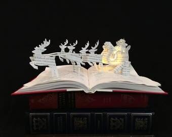 Santa Clause Lane - Santa's Sleigh with Reindeer