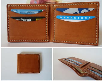 Leather man wallet, small wallet, card holder, gift for him, Father's Day gift