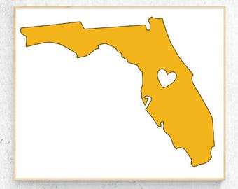 "Florida Love Vinyl Decal (6"" x 4.6"")"