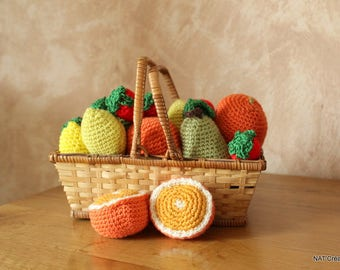 Basket of fruits in the hook