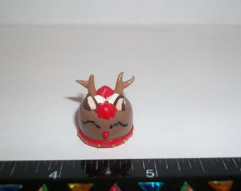 Dollhouse Miniature Handcrafted Christmas Reindeer Dessert Cake Doll Food E29
