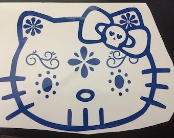 Sugar skull Kitty vinyl decal