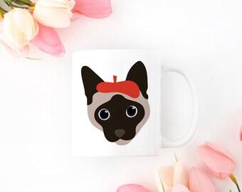Personalized Siamese Cat Mug, Siamese Cat Coffee Mug, Cat Mug, Siamese Mug, Siamese Cat Coffee Cup, Siamese Cat Cup, Cat Coffee Mug, Siamese