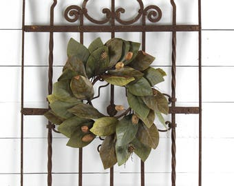 Architectural Salvage Victorian Iron Fence Panel, Antique Ornate Iron Fence