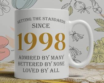 Setting standards, 20th Birthday mug, 20th birthday idea, born 1998 birthday, 20th birthday gift, 20 years old, Happy Birthday, EB 1998 Grey