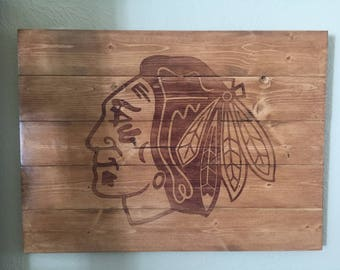 Blackhawks Logo Sign