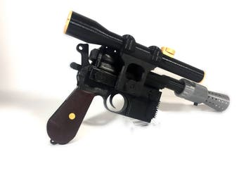 3D Printed DL-44 Han Solo Blaster From Star Wars - Full Size