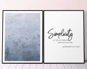 Printable Diptych Prints Navy Blue Abstract Art and Simplicity Poster, Minimalist Affiche Printable Set of Two Wall Art, Minimalist Blue Art
