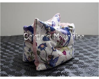 Hot/cold neck pillow heating organic flax seeds, fairies and velvet - new COLLECTION fabrics