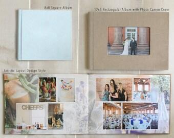 10x10  Linen Cover Custom Designed Wedding Album