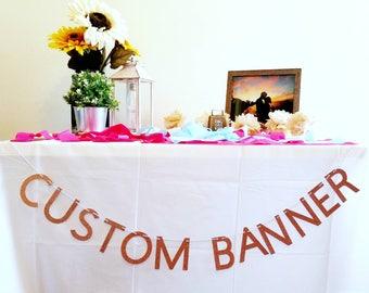 Custom Bachelorette Banner   Custom Bridal Shower Banner   Custom Party Decorations   Bach Banner   Bachelorette Party  