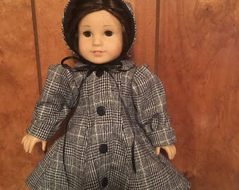 "Coat and bonnet for 18"" doll"