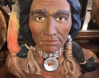 Indian chalkware bust