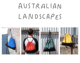 Australian Landscapes - Draw string bags