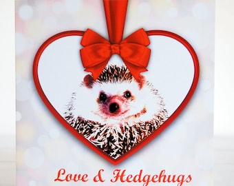 Valentines Card Hedgehog , Hedgehog Love Card, Hedgehog Anniversary Card,Hedgehog Valentine's Card, Hedgehog lover, Hedgehog gift