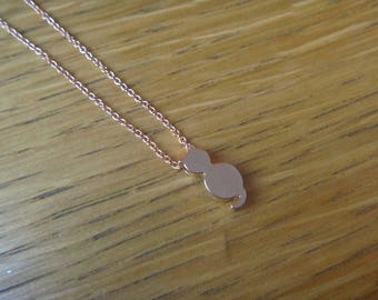 cute little necklace rose gold cat