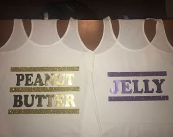 Peanut Butter and Jelly shirts