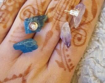 Amethyst point earrings