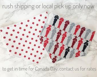 Canada bib and bow set, canada baby accessories, baby headband, baby bib, bandana bib, maple leaf bib, canadian bib, canada day accessories
