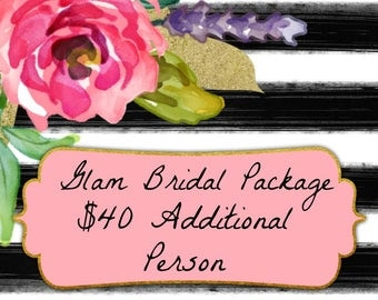 Additional Person for Glam Bridal Package