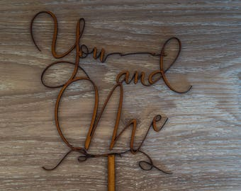 Wedding Cake Topper - You and Me - Fine Detailed Design