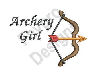 Archery Girl - Machine Embroidery Design