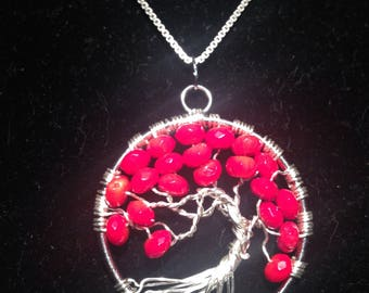 Valentina's Day.Tree of Life Necklacе Pendant .Artistic Wire Silver Plated.Tarnish Resistant Silver.amulet is Gladness and Health