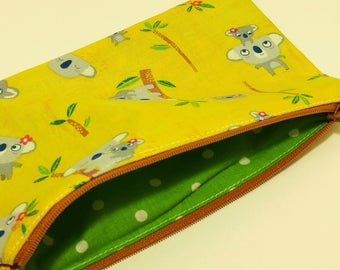 Koala Bears Novelty Zipper Pouch - makeup bag; pencil case; gift for her; cosmetic bag; carry all; gadget case; birthday; bridesmaids