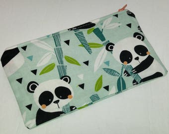 Pandas in Bamboo Forest Novelty Zipper Pouch - makeup bag; pencil case; gift for her; cosmetic bag; carry all; gadget case; medicine bag