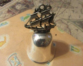 Nautical dinner bell .sterling silver