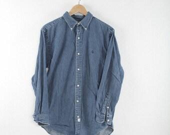 Vintage Polo Ralph Lauren Denim Shirt / Polo Small Pony Shirt Size S