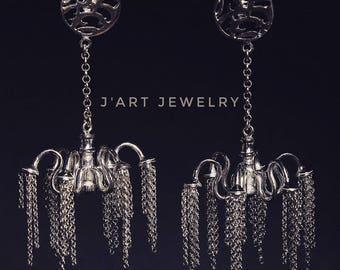 "Chandelier earrings, sterling silver earrings ""Versailles""."