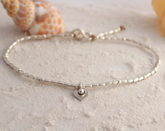 Hill Tribe Silver Anklet