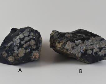 Snowflake Obsidian/Raw/Healing Stone/Crystal/Reiki/Shamanic
