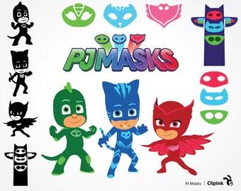PJ Masks svg, PJ Masks clipart, PJ svg, Gekko Catboy Owlette digital files – svg, eps, png, dxf, pdf. Fabric, Shirt, Cut, Print, Mug, Decal
