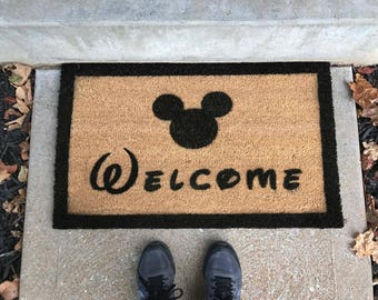 Welcome Disney Mickey Mouse Doormat