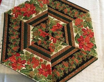 Poinsettia Candle Mat