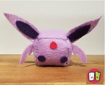 Espeon Pokemon Cube Plushie - 2 Inch Felt Cube