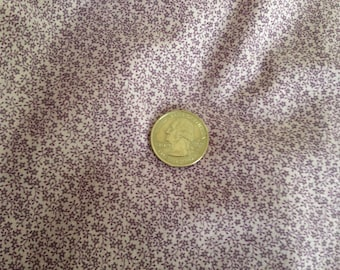 Lavender calico print, tiny flowers and branches, 2 3/4 yards, 44 inches wide