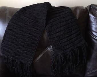 Black hand made  scarf