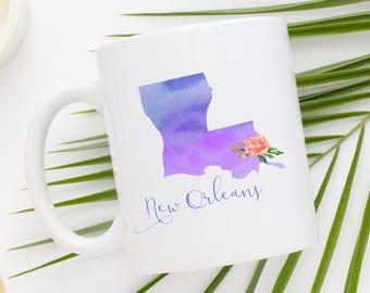 New Orleans Coffee Mug | Louisiana Mug | City Mug | Location Mug | Gift for Her | Moving Gift | New Orleans Gift | Home Mug | On The Bayou