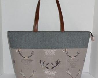 Tote bag, large tote bag, knitting bag, overnight bag, travel bag, carry on bag, beach bag