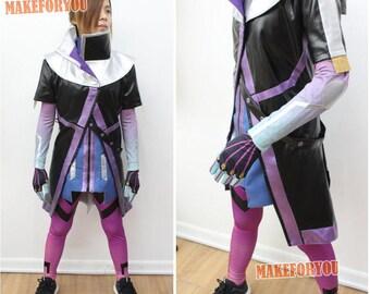 Women's OW Sombra Cosplay Costume purple