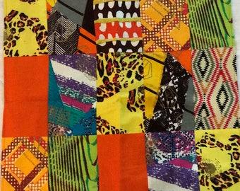 African quilt patchwork reversible plaid,Queen/pillow