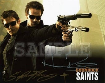 The Boondock Saints signed 8x10 Autograph RP - Great Gift Idea - Ready to Frame photo picture!